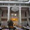 Many people who visit stay at one of the most lavish hotels called the Hotel Pupp.  This is the main dining hall there.