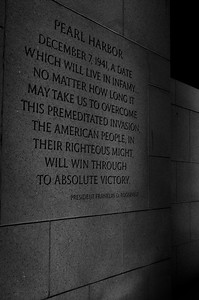 President Roosevelt Quote at World War II Memorial