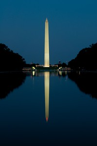 Washington Monument from west side of the reflecting pool