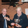 David Render presents long-standing member Gerry Bath with the Committee Rosebowl award for 2011