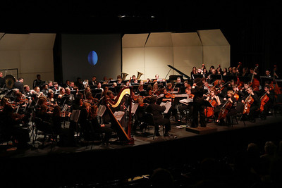 Christmas Orchestra performance with combined Gardner-Webb and Crest High School Chamber orchestras.