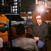 12-3-12<br /> Scenes from the filming of Parks and Recreation being filmed at St. Elmo's in Indianapolis. Nick Offerman who plays Ron Swanson sitting in front of a camera doing an off set interview.<br /> KT photo | Tim Bath