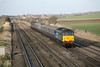 15 December 2012 :: Travelling away from Cholsey is 47501 at rear of the final Cruise Saver from Southampton to Edinburgh, train 1Z92.  47810 is leading the train