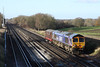 "10 December 2012 :: 66724 and LT No 12 ""Sarah Siddons"" on 0V12, Eastleigh to West Ruislip at Potbridge"