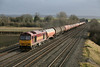 15 December 2012 :: 60065 passing Cholsey with 6B33, empty oil tanks from Theale to Robeston