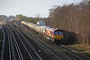 21 December 2012 :: 66096 passing Worting with ECS move from Eastleigh to Crewe (5Z55)