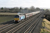 15 December 2012 :: Passing Cholsey with top and tailed Class 47's Nos. 47810 and 47501 is the final Cruise Saver from Southampton to Edinburgh, train 1Z92