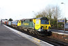 17 December 2012 :: 70020 with 66414 DIT passing through Basingstoke with 4M28 from Southampton to Ditton