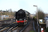 17 December 2012 :: BR Class 7MT 4-6-2 no 70000 Britannia <br /> approaching Basingstoke working the Cathedrals Express 1Z70 from Victoria to Yeovil Junction