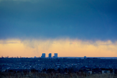 Cool clouds over denver on Saturaday night.