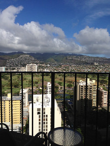 The view from our 29th floor room at Waikiki