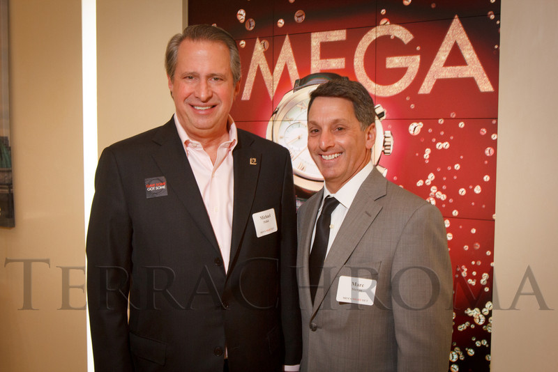 Michael Pollak and Marc Steron.  Men's Night Out event, benefiting the Denver Health Foundation, at Hyde Park Jewelers in Denver, Colorado, on Wednesday, Dec. 5, 2012.<br /> Photo Steve Peterson