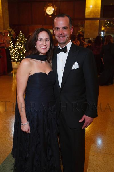 Sarah and Chris Hunt.  The 2012 Denver Debutante Ball, benefiting the Denver Botanic Gardens, at the Brown Palace Hotel and Spa in Denver, Colorado, on Saturday, Dec. 22, 2012.<br /> Photo Steve Peterson