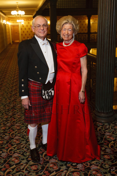 Newell (in family tartan) and Judy Grant.  The 2012 Denver Debutante Ball, benefiting the Denver Botanic Gardens, at the Brown Palace Hotel and Spa in Denver, Colorado, on Saturday, Dec. 22, 2012.<br /> Photo Steve Peterson