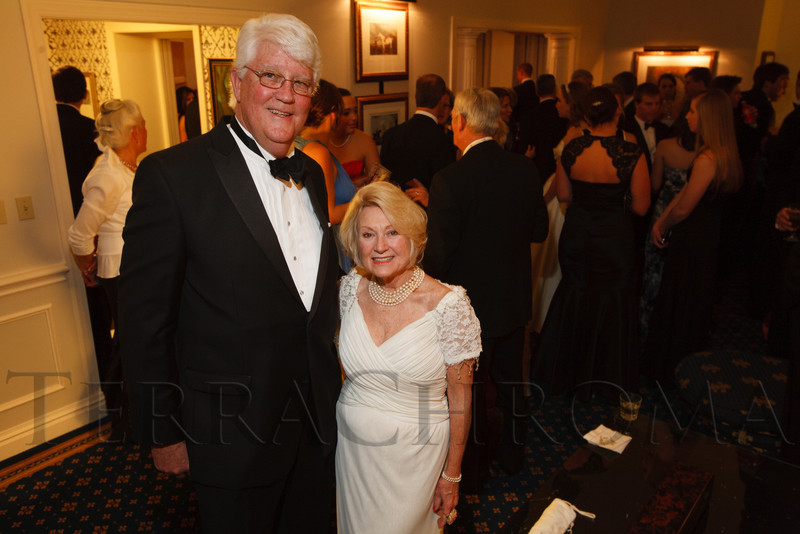 Michael O'Connell and Barbara Knight.  The 2012 Denver Debutante Ball, benefiting the Denver Botanic Gardens, at the Brown Palace Hotel and Spa in Denver, Colorado, on Saturday, Dec. 22, 2012.<br /> Photo Steve Peterson