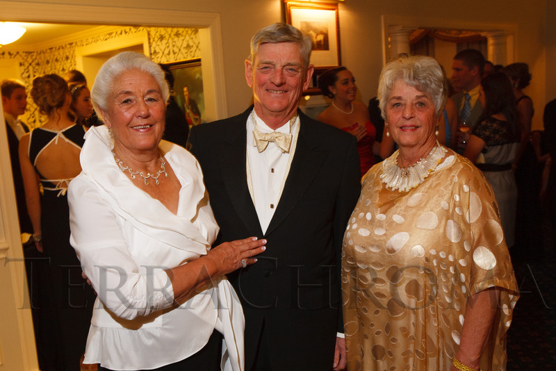 Kay DeLine and Bill (Post Debutante escort to Sue, 1958) and Sue Lake (sister of Kay, 1957 Debutante).  The 2012 Denver Debutante Ball, benefiting the Denver Botanic Gardens, at the Brown Palace Hotel and Spa in Denver, Colorado, on Saturday, Dec. 22, 2012.<br /> Photo Steve Peterson