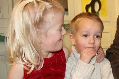 Connor also terrified of Santa visit. Amelia trying to chill him out.