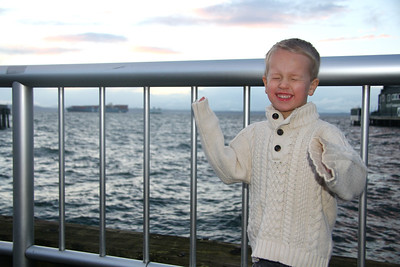 Post Santa trip to the waterfront to ride the Great Wheel