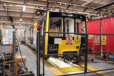 Tyne & Wear Metro 4020 under refurbishment inside Wabtec.