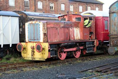 Hunslett 4wDH 5308/3793 at Lincs Wolds Railway.