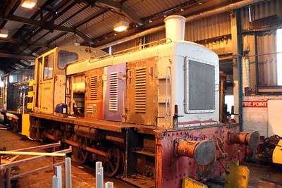 0-6-0DM D2128 (03128) at Appleby Frodingham Railway, Scunthorpe Tata.