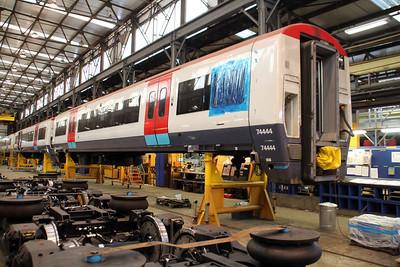 ex Gat-ex Unit 460004 coach 74444 in Wabtec.