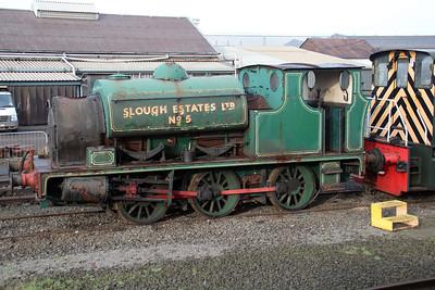 Hudswell & Clarke 0-6-0st Slough Estates No5 (1709) at Appleby Frodingham Railway, Scunthorpe Tata.