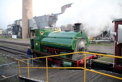Peckett Steam 0-4-0st 1438 at Appleby Frodingham Internal Platforms.