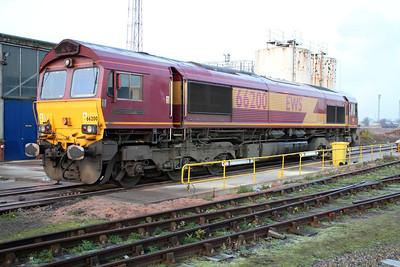 66200 'Railway Heritage Committee' sits on Immingham TMD on Saturday 24/11/12.