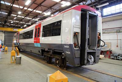 ex Gat-ex Unit 460004 coach 74424 in Wabtec.