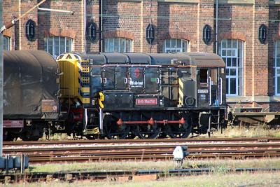 08669 shunts Doncaster West Yard.