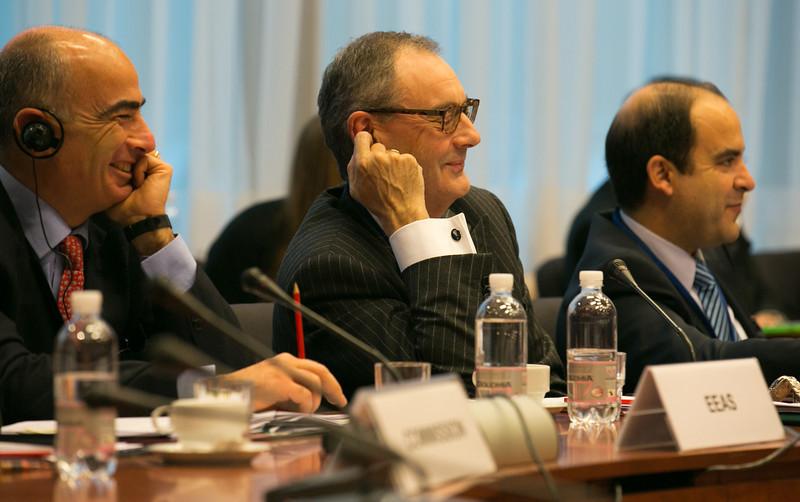 Left: Gianluca Grippa, Head of Division, European External Action Service; and David O'Sullivan, Chief Operating Officer, the European External Action Service.