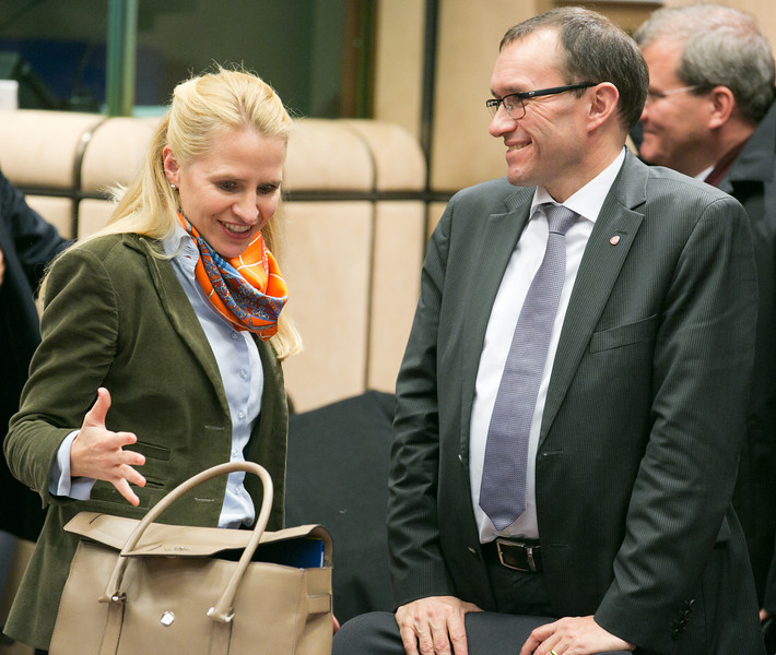Aurelia Frick, Minister of Foreign Affairs, Liechtenstein; and Espen Barth-Eide, Minister of Foreign Affairs, Norway.