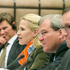 From left: Thorir Ibsen, Ambassador of Iceland to the EU; Aurelia Frick, Minister of Foreign Affairs, Liechtenstein; Kurt Jäger, Ambassador of Liechtenstein to the EU; and Espen Barth-Eide, Minister of Foreign Affairs, Norway