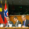 From left: Pat the Cope Gallagher, MEP and President of the EEA JPC, Skúli Helgason, MP Iceland and acting Vice-President of the EEA JPC, Einar Ekern, EEA JPC Secretary, Ambassador Atle Leikvoll, President-in-Office of the EEA Joint Committee, Maria Botsari, Chair of the EFTA Working Party at the Council