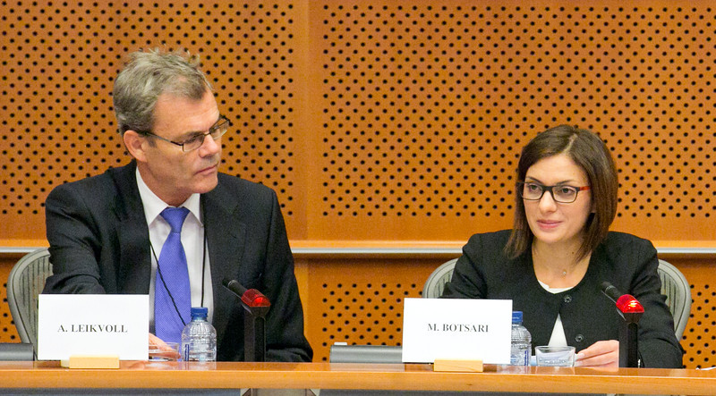 Ambassador Atle Leikvoll, President-in-Office of the EEA Joint Committee and Maria Botsari, Chair of the EFTA Working Party at the Council