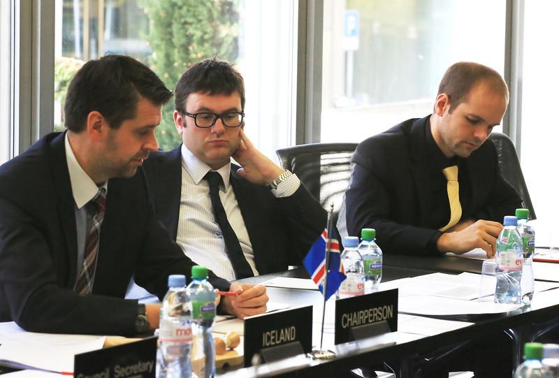 EFTA Council 6 November 2012 - Ambassador Martin Eyjólfsson, Iceland (Chair) (left)