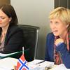 EFTA Council 6 November 2012 - Ambassador Elin Østebø Johansen, Norway (right)