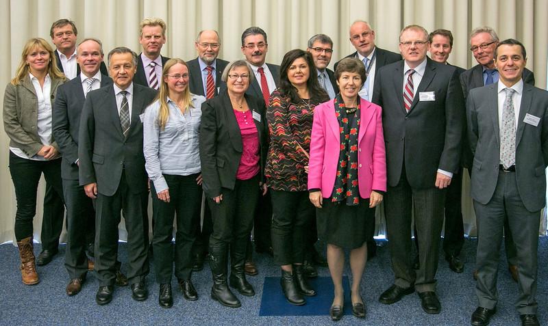 The EFTA Parliamentary Committee at the meeting in Geneva, Switzerland, on 12 November 2012.