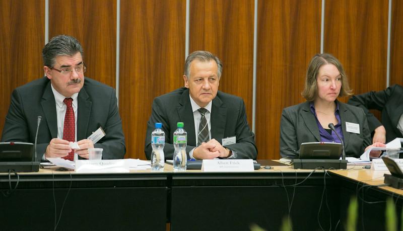 Left: Harry Quaderer (Independent, Liechtenstein), Albert Frick (Progressive Citizen's Party, Liechtenstein), and Sandra Gerber-Leuenberger, Secretary of the Liechtenstein delegation.