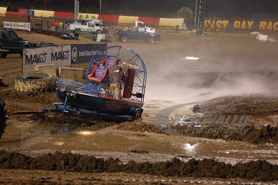 East Bay Raceway Park used a Fan Boat to clear out water