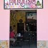 El Valle Panama - William enjoying the fare at Pariaso