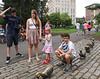 Benjamin, Isabel, Hannah, and Joey at ducklings