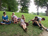 Chantal, Caroline, Hannah, Isabel, Benjamin, and Joey in Boston Common