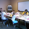 YWCA Wed - Decorating kids' prize bags (by Christa LeeVan)