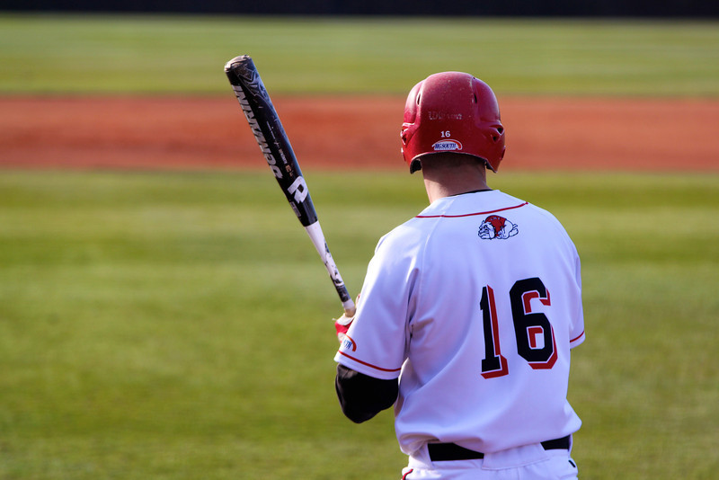 No. 16, Benji Jackson, gets ready to hit the ball
