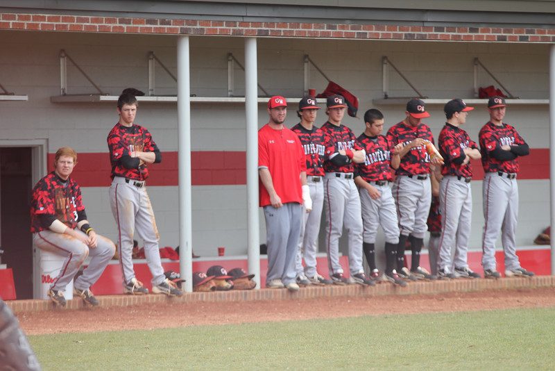 The team in the dugout