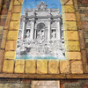 Tribune-Star/Jim Avelis<br /> Overflowing: A painting of the Fountain of Trevi in Rome is one of four works by Becky Hochalter that adorn the walls of Louise's Pizzaria and Cafe in downtown Terre Haute.