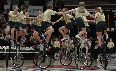 Balls Creek PE Club from Newton, NC performed an impressive unicycle routine for the halftime show
