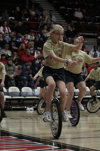 Balls Creek PE Club from Newton, NC performed an impressive unicycle routine for the halftime show.
